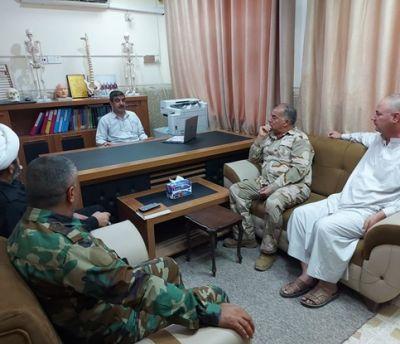 لقاء السيد رئيس الجامعة مع مقاتلي الحشد الشعبي