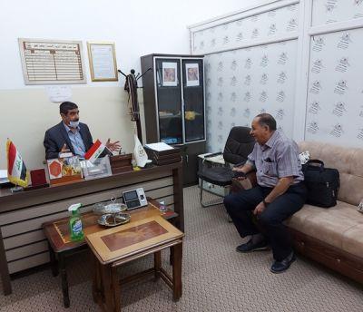 زيارة رئيس الجامعة الاستاذ الدكتور عبدالعزيز احمد عزيز الى كلية